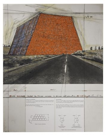 Screenprint Christo - Texas Mastaba
