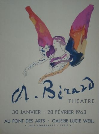 Lithograph Berard - Théatre