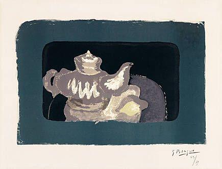 Lithograph Braque - Théière grise