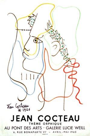 Lithograph Cocteau - Thême Orphique Galerie Lucie Weill