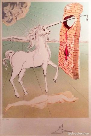 Lithograph Dali - The agony of love