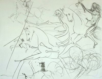 Drypoint Dali - The Apocalyptic Rider