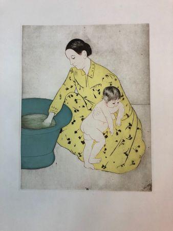 Engraving Cassatt - The Bath