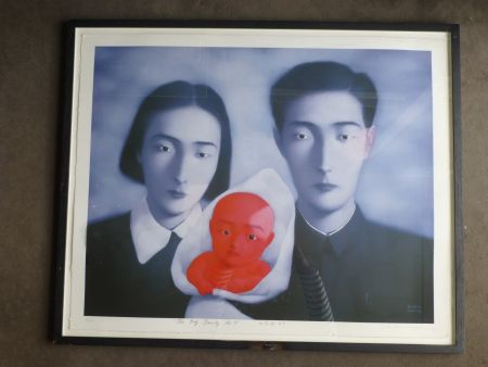 Lithograph Zhang - The big family number 9