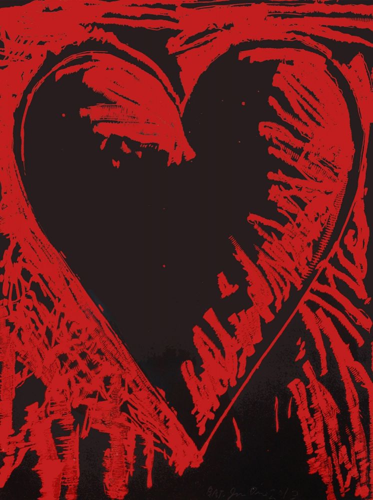 Woodcut Dine - The Black and Red Heart