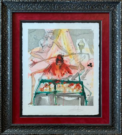 Lithograph Dali - The Cards Spell Death to Carmen