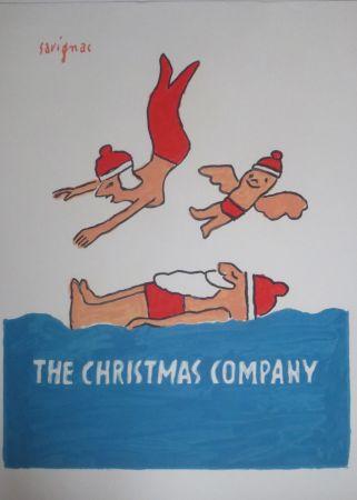 Lithograph Savignac - The christmas company