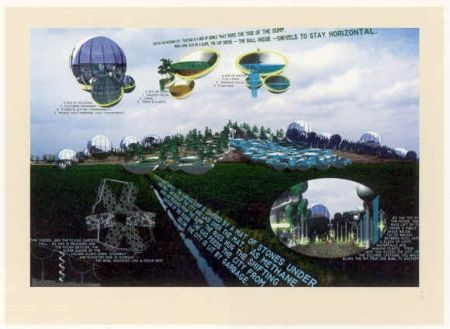 Lithograph Acconci - The City that Rides a Garbage Dump