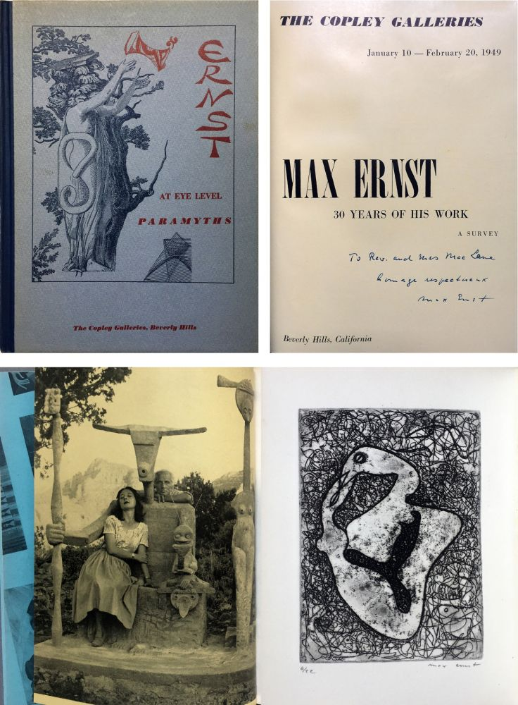 Engraving Ernst - The Copley Galleries. At Eye Level. Paramyths. Max Ernst, 30 years of his work.