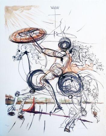 Lithograph Dali - The Crazy Horse