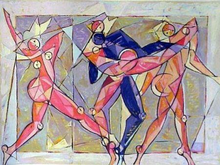 Lithograph Kahn - The Dance