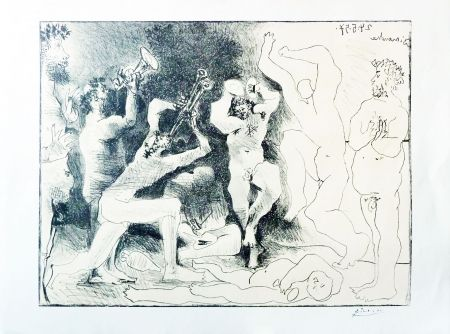 Lithograph Picasso - The Dance of the Fauns