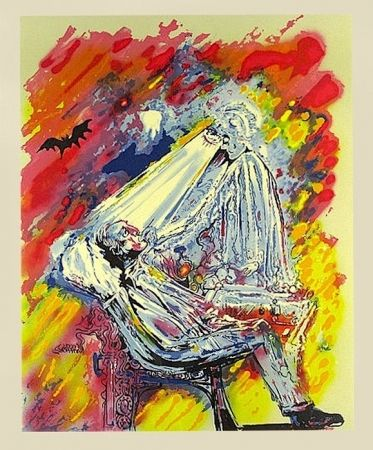 Lithograph Dali - The Dentist: The Healing Light, from L'Acenture Medicale