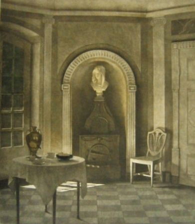 Mezzotint Ilsted - The Dining Room At Liselund