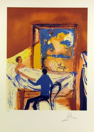 Lithograph Dali - The Doctor: The Struggle Against Illness, from L'Aventure Medicale
