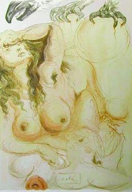 Lithograph Dali - The Dream
