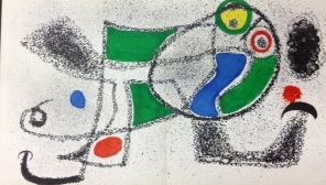 Lithograph Miró - The dreamer