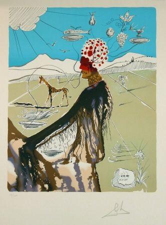 Lithograph Dali - The Earth Goddess (The Chef)