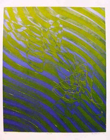 Engraving Hayter - The Fall