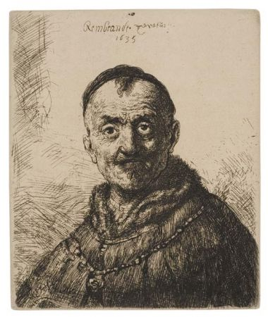 Etching Rembrandt - The First Oriental Head