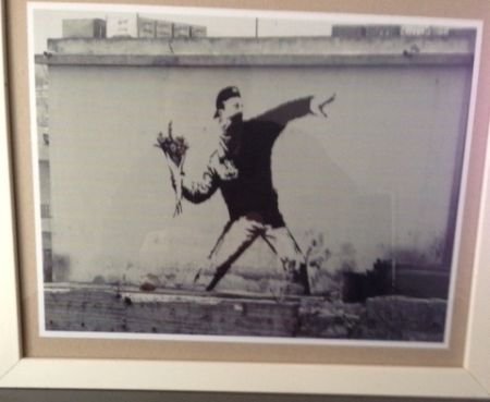 Photography Banksy - The flower thrower from Jerusalem
