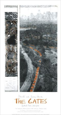 Offset Christo - THE GATES -  Signed Poster