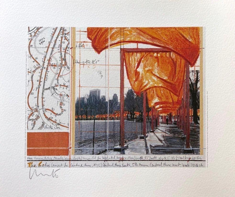 Lithograph Christo - The Gates (a)