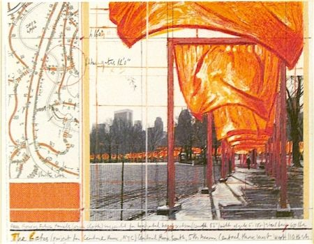 Lithograph Christo - The Gates (a)