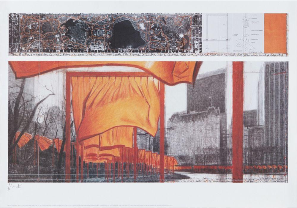 Lithograph Christo - The Gates (p)