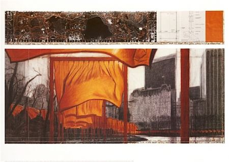 Lithograph Christo - The Gates (p)