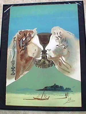 Lithograph Dali - The Golden Chalice