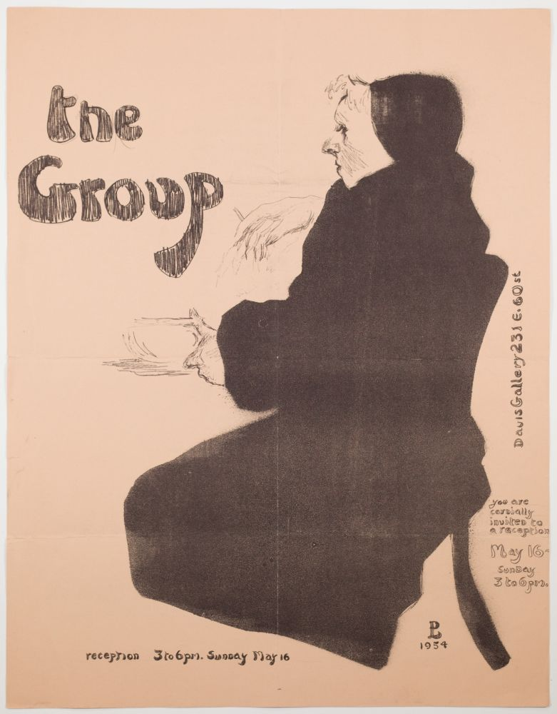 Lithograph Levine - The Group