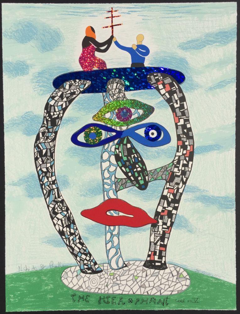 Lithograph De Saint Phalle - The Hierophant