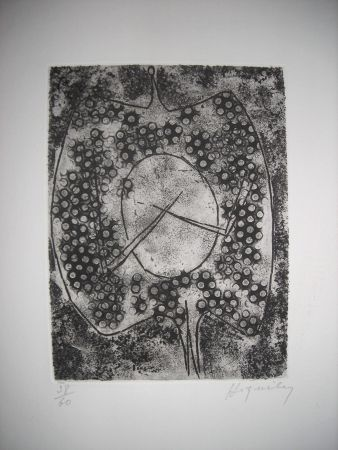 Etching And Aquatint Hiquilly - The international avant garde 2