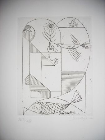 Engraving Survage - The international avant garde 4