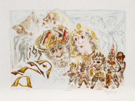 Lithograph Gross - The Jewish Holidays. A Suite of Eleven Original Lithographs by Chaim Gross