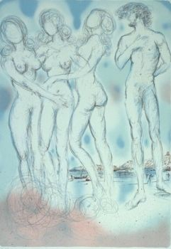 Lithograph Dali - The Judgment of Paris