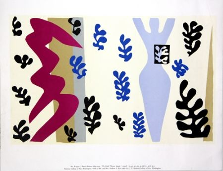 Screenprint Matisse - The Knife Thrower  National Gallery of Art Washington