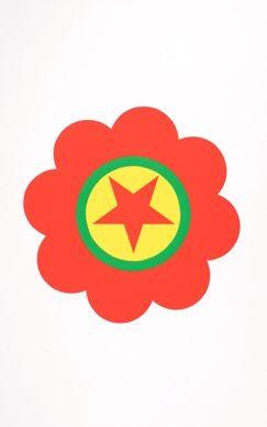 Screenprint Apfelbaum - The Kurdistan's worker party