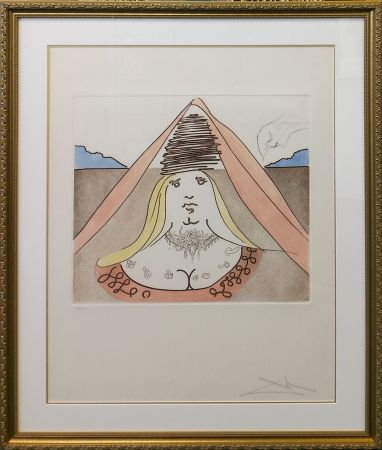 Etching And Aquatint Dali - THE LADY DULCINEA