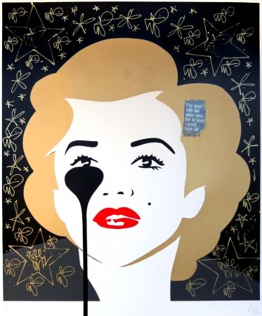 Screenprint Pure Evil - The last Marilyn (golden scratching)