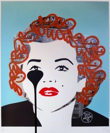 Screenprint Pure Evil - The last Marilyn (orange fizz)