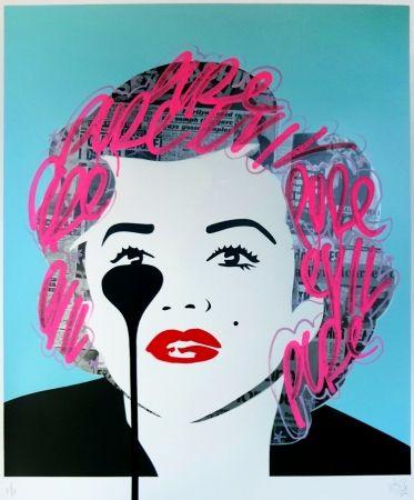 Screenprint Pure Evil - The last Marilyn (pink tags)