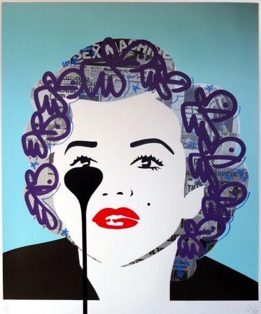 Screenprint Pure Evil - The last Marilyn (plum bunnies)