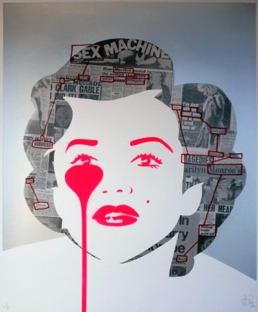 Screenprint Pure Evil - The last Marilyn (ransom note messages)