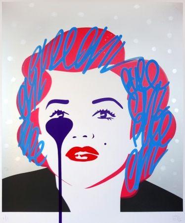 Screenprint Pure Evil - The last Marilyn (silver dots)