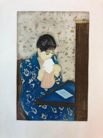 Engraving Cassatt - The letter