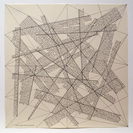 Etching Lewitt - The Location of Lines. Lines from Points to Points.