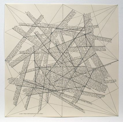 Etching Lewitt - The Location of Lines. Lines from the Midpoints of Lines.