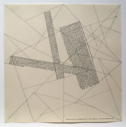 Etching Lewitt - The Location of Lines. The Location of a Straight Line. A not Straight Line and a Broken Line.